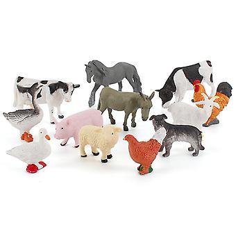 Learning Minds Set von 12 Jumbo Farm Animals