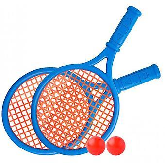 Outdoor interactieve strand speelgoed tennis racket set (blauw)