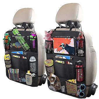 2 Упаковка Автомобильный органайзер для заднего сиденья, складные защитные пленки для спинки автокресла с сенсорным экраном держатель планшета