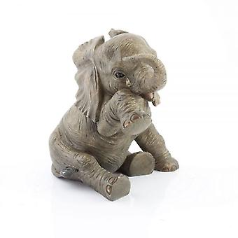 15cmRESIN BABY olifant vergadering TEARDROP HOME decoratie ORNAMENT beeldje