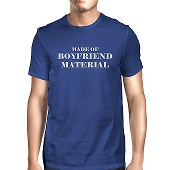 Vriendje materiële Mens Blue ronde hals T-Shirt Trendy grafisch Top
