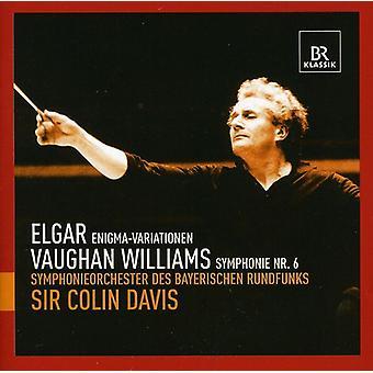 Elgar/Williams - Elgar: Enigma Variations; Vaughan Williams: Symphony No. 6 [CD] USA import
