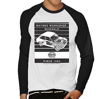 Haynes taller Manual 0173 Fiat 127 la raya béisbol de los hombres manga larga camiseta