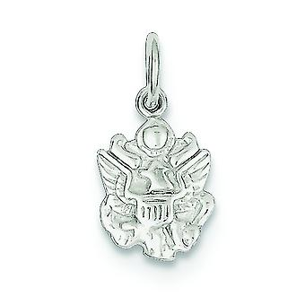 925 Sterling Silver Solid Polished Not engraveable Army Insignia Charm - .5 Grams