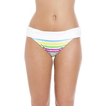 Camille Tutti Frutti Rollover vita Bikini breve bianco