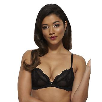 Gossard 7725- Women's Suberboost Lace Black Lace Non-Padded Underwired Deep Plunge Plunge Bra