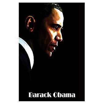 Barack Obama Poster Print von H Abavista (13 x 19)
