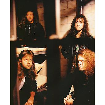Metallica Group Photo - Newstead Trujillo Ulrich & Mustaine (8 x 10)