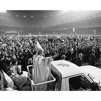 Pope John Paul II Visits US Yankee Stadium 1979 Poster Print by McMahan Photo Archive (10 x 8)