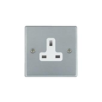 Hamilton Litestat Hartland Satin Chrome 1g 13A Unswitched Socket WH