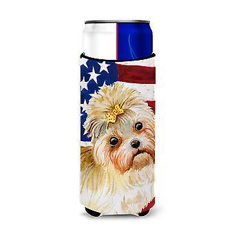 Morkie patriottico Michelob Ultra Hugger per lattine slim
