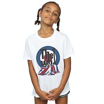 O que garotas bandeira cobertor t-shirt
