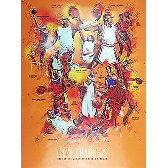 Basketball Poster Black Sports History (18x24)