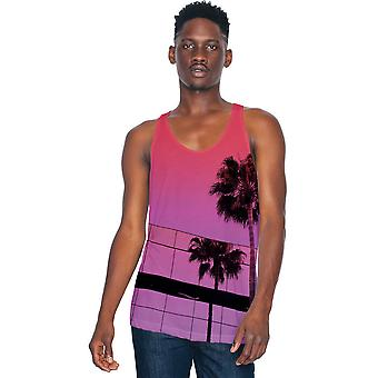 American Apparel Herre Sublimation letvægts 100% Polyester tanktop
