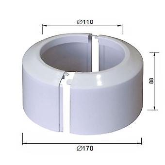 Haut diviser deux pièces blanc WC toilette Rosette de couvercle collier de raccordement de tuyau de chute 110mm
