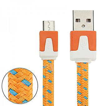 3m USB data and charging cable Orange for all Smartphone and Tablet micro USB