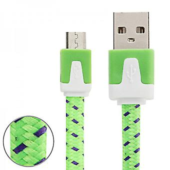 1m USB data and charging cable green for all Smartphone and Tablet micro USB