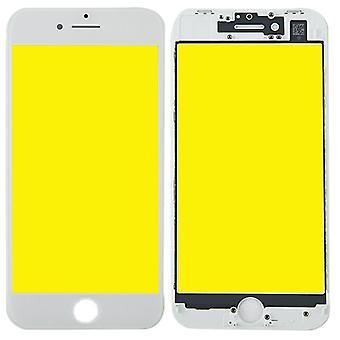 Vise glass for Apple iPhone 8 4.7 skjermglass LCD + bilde + OCA lim deler hvit