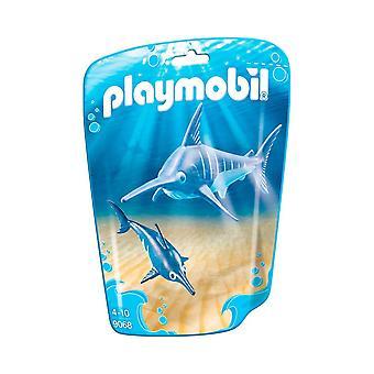 Playmobil 9068 Family Fun Swordfish with Baby, Multi