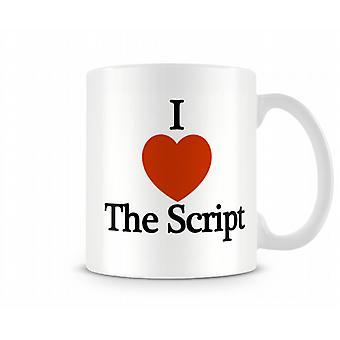I Love The Script Printed Mug