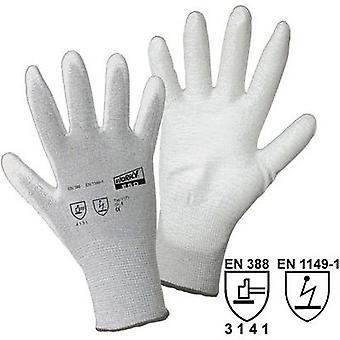 L + D worky ESD nylon/Carbon-PU 1171 nylon beschermende handschoen maat (handschoenen): 7, S EN 388, EN 1149-1 CAT II 1 paar