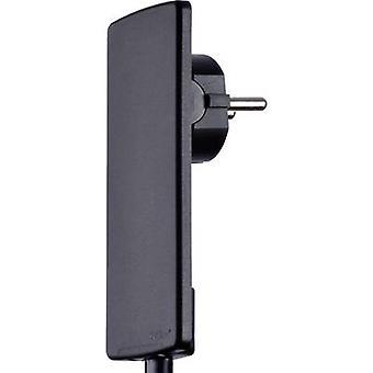 EVOline 1510.0000.0100 CEE 7/16 safety plug Plastic + unplug aid 230 V Black IP20