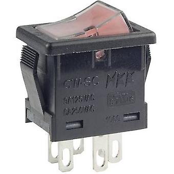 NKK Switches Toggle switch CWSC21JDADS 250 V AC 6 A 2 x Off/On latch 1 pc(s)