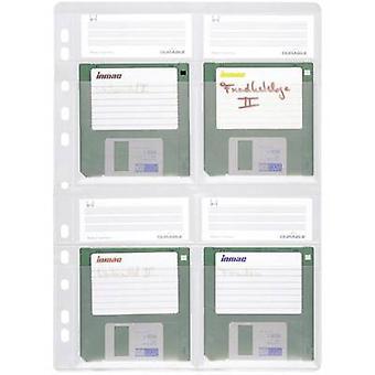 Pasta de disquete durável socou exemplo 5 transparente de bolso 4 disquetes (3.5) computador (es) 524319