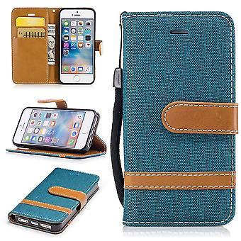 W przypadku Apple iPhone 5 / 5 s / SE dżinsy obejmować komórki ochronny pokrowiec Case Grün
