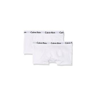 كالفين كلاين الأولاد 2 حزمة جذوع الملاكم القطن الحديثة-أبيض