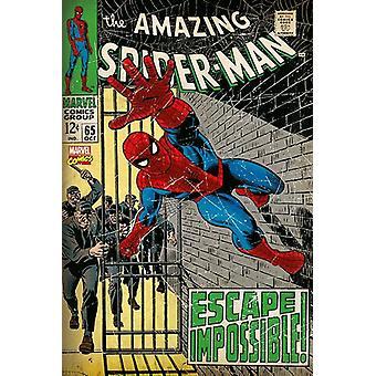 Spiderman Escape Escape Impossible Poster Print
