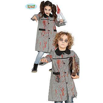Blutige Schuluniform für Kinder Zombie Schulmädchen Geister Schülerin