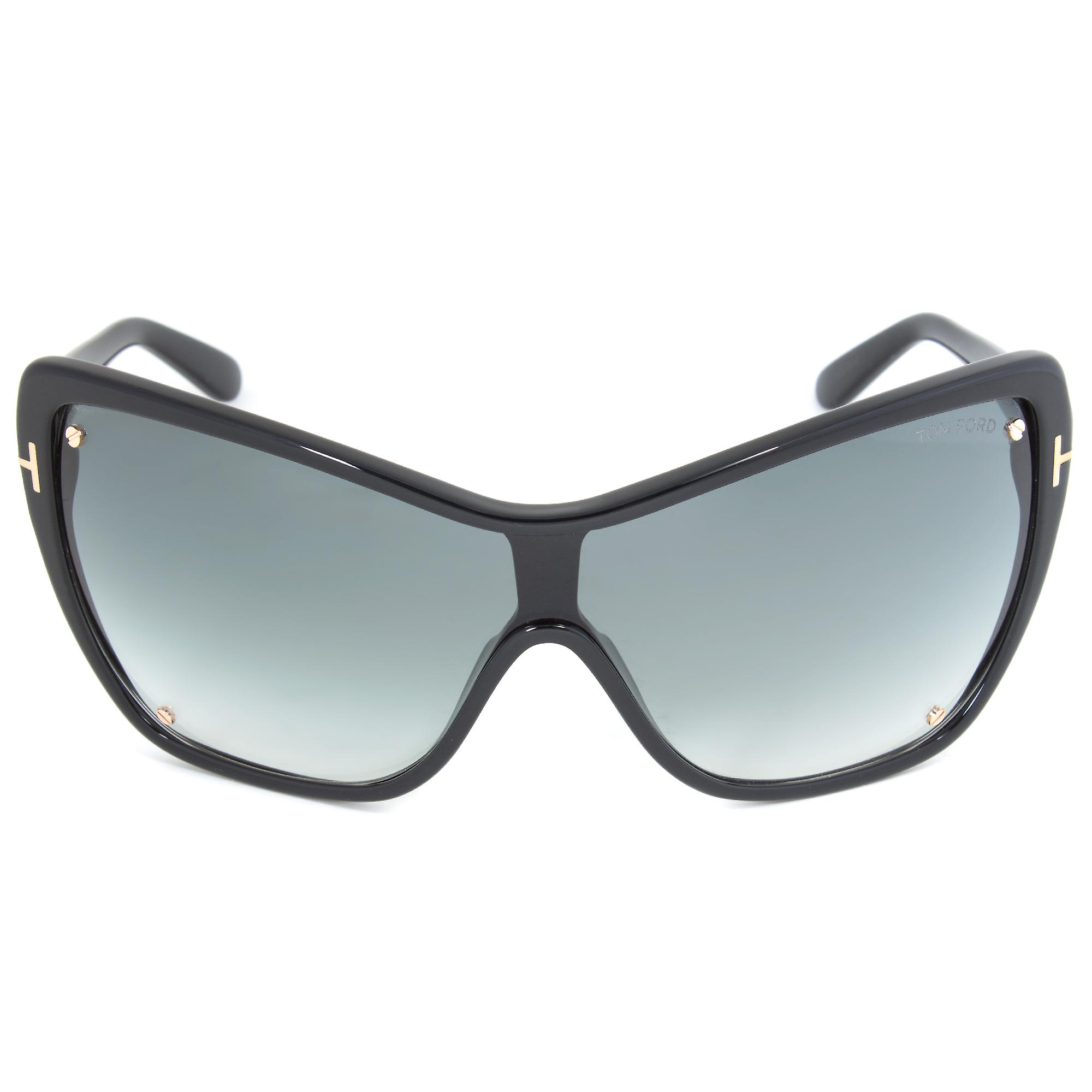 Tom Ford Ekaterina Sunglasses FT0363 01B | Black Frame | Grey Lens