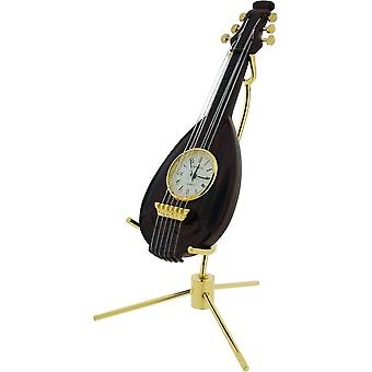 Gift Time Products Mandolin Miniature Clock - Gold/Brown