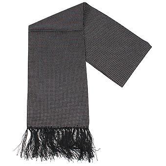 Cravatte di Knightsbridge Pin Dot vestito sciarpa - nero