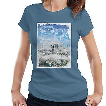 Official Volkswagen Mountain Camper Outline Women's T-Shirt
