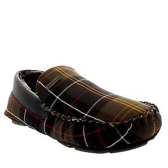 Miesten Barbour Monty mokkasiini Tartan luistaa Turkista vuorattu talvi tohveli kenkä
