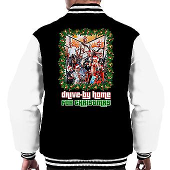 Grand Theft Auto Drive By Home For Christmas Men's Varsity Jacket