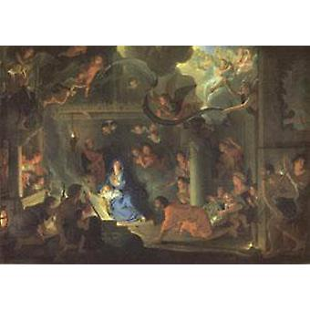The Adoration of the Shepherds, LE BRUN Charles, 60x40cm