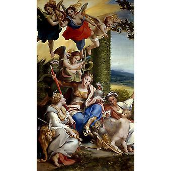Allegory of Virtue,Correggio,80x40cm