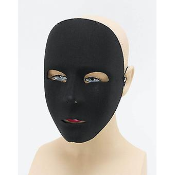 Plain Black Face Mask.