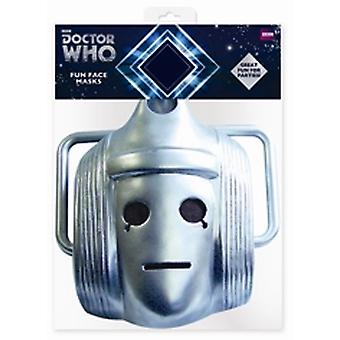 Classic Cyberman Doctor Who Card Face Mask