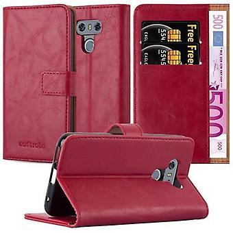Cadorabo sag for LG G6 sag dække - mobiltelefon sag med magnetisk lås, stå funktion og kortrum - Sag Cover Beskyttende sag bog Foldestil
