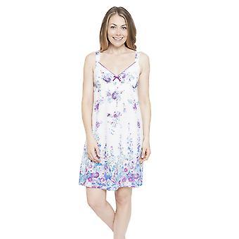 Andrea White Night impresión Floral vestido Loungewear camisón Cyberjammies 4097 Femenil