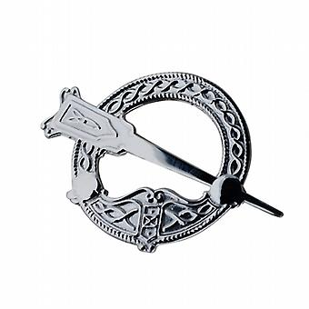 Silver 32mm embossed Tara Brooch