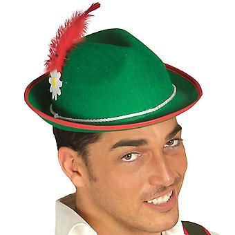 Mens Green Bavarian Hat Fancy Dress Accessory