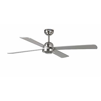 Faro - Ibiza Large Matt Nickel Ceiling Fan Without Light FARO33287