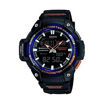 Casio analoog-digitaal horloge quartz mannen met zwarte hars riem SGW-450H-2BER