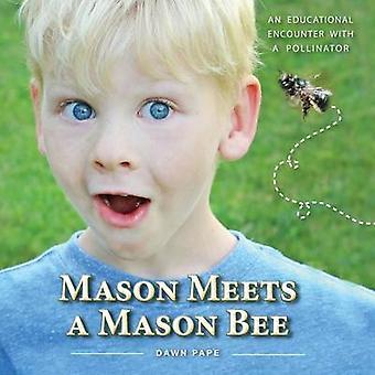 Mason voldoet aan een Mason Bee een educatieve ontmoeting met een Pollinator door Pape & Dawn V