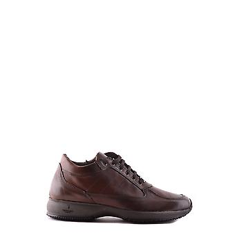 Trussardi Ezbc149008 Men's Brown Leather Sneakers